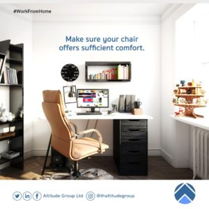 work from home: ergonomic chair