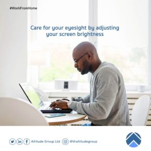 work from home: care for eyes