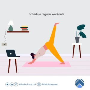 work from home: regular workouts